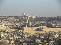 Widok kopuła skała na Świątynnej górze w Jerozolima, Izrael - obraz stock