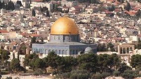 Widok kopuła skała od góry oliwki Jerozolima, Izrael, - zbiory wideo