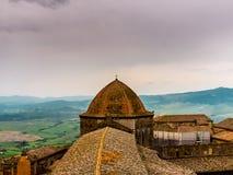Widok kopuła katedra Volterra obrazy royalty free