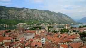 Widok kotor stary miasteczko od Lovcen góry w Kotor, Montenegro Kotor jest częścią unesco świat Timelapse zdjęcie wideo