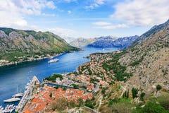 Widok Kotor zatoka Zdjęcie Stock