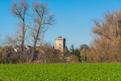 Widok krajobraz blisko Dormagen, Zons - Zdjęcia Stock