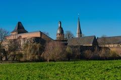 Widok krajobraz blisko Dormagen, Zons - Fotografia Stock