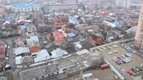 Widok Krasnodar na chmurnym ranku zdjęcie wideo