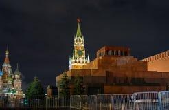 Widok Kremlin, Lenin mauzoleum Miasto Moskwa obrazy royalty free
