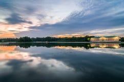 Widok Kuskovo park przy zmierzchem tła Cairo Egypt pierwszoplanowy Giza hdr wizerunku khafre ostrosłupa sfinks moscow Rosji Fotografia Stock