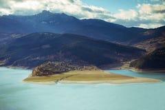 Widok Lacul Bicaz, Rumunia Fotografia Royalty Free