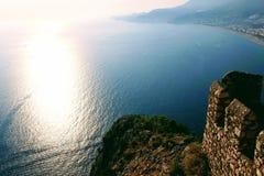 Widok laguna od obserwacja pokładu w Alanya kasztelu Alanya, Turcja Fotografia Royalty Free