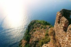 Widok laguna od obserwacja pokładu w Alanya kasztelu Alanya, Turcja Obraz Stock