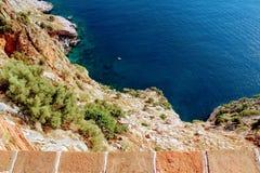 Widok laguna od obserwacja pokładu w Alanya kasztelu Alanya, Turcja Obrazy Royalty Free