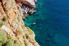 Widok laguna od obserwacja pokładu w Alanya kasztelu Alanya, Turcja Zdjęcia Royalty Free