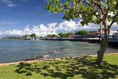 Widok Lahaina Frontowa ulica, Maui, Hawaje Zdjęcia Royalty Free