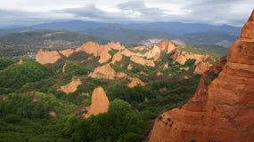 Widok lasy Medulas w Hiszpania Zdjęcia Stock