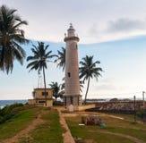 Widok latarnia morska w Galle forcie, Sri Lanka Obraz Royalty Free
