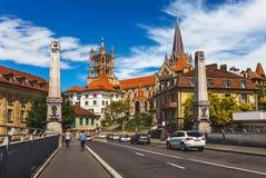 Widok Lausaunne, Szwajcaria w centrum - zdjęcia royalty free