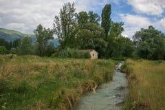 Widok Le Marcite Norcia w Umbria, Włochy Zdjęcia Royalty Free