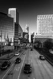 Widok Lekka ulica w Baltimore, Maryland Zdjęcia Royalty Free