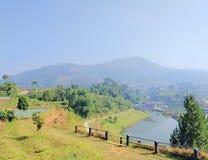 Widok lembang Bandung zdjęcia royalty free