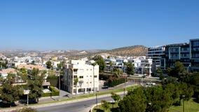 Widok Limassol przy wschód słońca Wschód słońca w Limassol Cypr Starożytnego Grka miasto z góry zdjęcie wideo