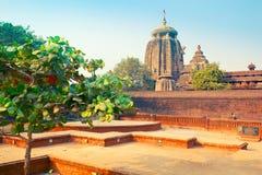 Widok Lingaraj świątynia w Bhubaneswar zdjęcia royalty free