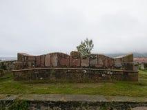 Widok Llanes, miasteczko północny Hiszpania Obrazy Stock
