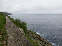 Widok Llanes, miasteczko północny Hiszpania Zdjęcie Royalty Free