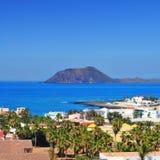 Lobos wyspa od Corralejo w Fuerteventura, wyspy kanaryjska, Sp Zdjęcie Royalty Free