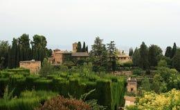 Widok los angeles Alhambra w Granada fotografia royalty free