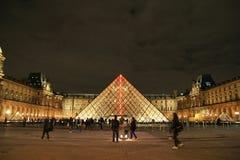 Widok louvre muzeum, Paryż, Francja Zdjęcie Stock