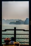 Widok lubi obraz, Halong zatoka Zdjęcia Stock