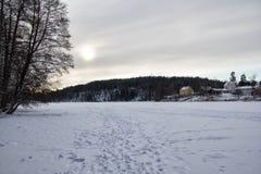 Widok lukrowy jezioro Fotografia Royalty Free