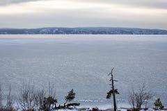 Widok lukrowy Oslo fjord w zimie Fotografia Royalty Free