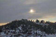 Widok lukrowy Oslo fjord w zimie Zdjęcia Stock