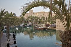 Widok luksus 5 gra główna rolę Madinat Jumeirah hotel Zdjęcia Stock