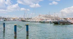 Widok luksusowy marina Vilamoura obrazy stock