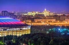 Widok Luzhniki i wieżowiec Obraz Stock