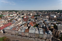 Widok Lviv, Ukarine. Obraz Royalty Free