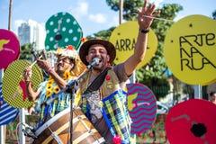 Widok mężczyzna w typowy brasilian, Junina przyjęcie zdjęcie royalty free