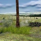 Widok mały gazon z trawą, dolina royalty ilustracja