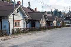 Widok mały kraju miasteczko Ligatne, Latvia zdjęcia stock
