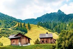 Widok Malbun, ośrodek narciarski w Liechtenstein zdjęcia royalty free