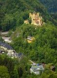 Widok malowniczy Grodowy Hohenschwangau w Bavaria, Niemcy Zdjęcie Stock