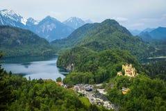 Widok malowniczy Grodowy Hohenschwangau w Bavaria, Niemcy Fotografia Stock