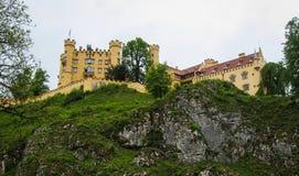 Widok malowniczy Grodowy Hohenschwangau w Bavaria, Niemcy Obrazy Royalty Free