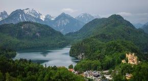 Widok malowniczy Grodowy Hohenschwangau w Bavaria, Niemcy Obraz Stock