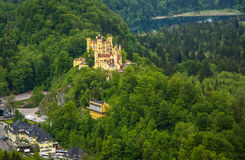 Widok malowniczy Grodowy Hohenschwangau w Bavaria, Niemcy Zdjęcie Royalty Free