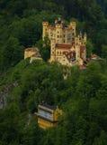 Widok malowniczy Grodowy Hohenschwangau w Bavaria, Niemcy Zdjęcia Stock