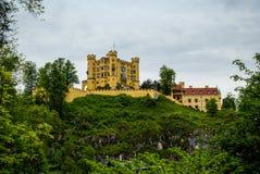 Widok malowniczy Grodowy Hohenschwangau w Bavaria, Niemcy Fotografia Royalty Free