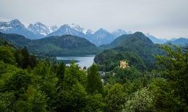 Widok malowniczy Grodowy Hohenschwangau w Bavaria, Niemcy Zdjęcia Royalty Free