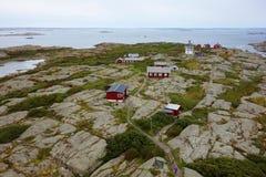 Widok malutka wyspa Vinga, Szwecja Zdjęcie Stock